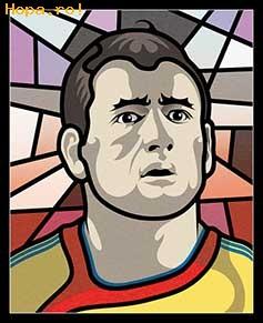 Caricaturi fotbalisti Euro 2008 - Razvan Rat - Euro 2008